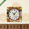 Képáruház.hu Vászonkép óra, Premium Kollekció: Prosciutto sandwich collage(25x25 cm, C01)
