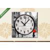 Képáruház.hu Vászonkép óra, Premium Kollekció: vászonfestmény, utcai kilátás Párizsban. Alkotás. eiffel a(25x25 cm, C01)
