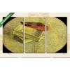 Képáruház.hu Vincent Van Gogh: Három könyv(125x70 cm, L01 Többrészes Vászonkép)