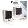 Kerámia Hősugárzó 750 és 1500 W Fehér/Fekete (KN-FH10)