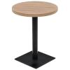 kerek, tölgyfa színű MDF/acél bisztró asztal 60 x 75 cm