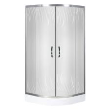 Kerra Claudia íves dupla tolóajtós zuhanykabin, 80x80x195 cm, alacsony tálcával fürdőszoba kiegészítő