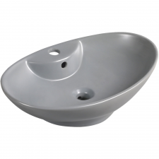 Kerra KR-139 kerámia design mosdó, 58x38,5x17cm, matt szürke fürdőszoba kiegészítő