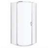 Kerra Splash íves zuhanykabin tálca nélkül 79x79x190cm - króm profil, víztiszta üveg