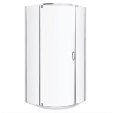 Kerra Splash íves zuhanykabin tálca nélkül 79x79x190cm - króm profil, víztiszta üveg fürdőszoba kiegészítő