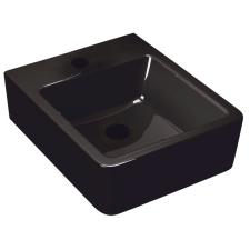 Kerra Thor 24 függeszthető mosdó, fekete színben 46x38 cm kád, zuhanykabin