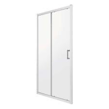 Kerra ZOOMD120ML zuhanyajtó, 120x190, tejfehér csíkos üveg fürdőkellék