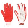Kertészkesztyű, latex, 10-es méret, piros/fehér