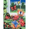 Kifestő készlet akrilfestékkel, ecsettel, gyerekeknek 8 éves kortól - 20x25 cm - Pillangók