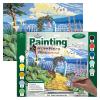 Kifestő készlet számokkal, ecsettel, felnőtteknek - 30x40 cm - Tengerparti kert