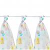 Kikko LUX Mintás textilpelenka, kislányos, 80x80 cm, 3 darab