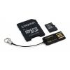 Kingston 16GB Micro SDHC CL4 MBLY4G2/16GB Mobility kit Memóriakártya + adapter + olvasó (Élettartam garancia)