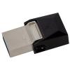 Kingston 32GB Micro Duo USB 3.0 + micro USB OTG pendrive - Fekete