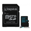 Kingston 32GB SD micro Canvas Go (SDHC Class 10  UHS-I U3) (SDCG2/32GB) memória kártya adapterrel