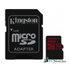 Kingston 32GB SD micro Canvas React (SDHC Class 10  UHS-I U3) (SDCR/32GB) memória kártya adapterrel