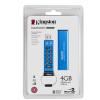 Kingston 4GB DataTraveler Keypad DT2000 vízálló USB 3.0 pendrive kék