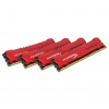 Kingston DDR3 32GB 1866MHz Kingston HyperX Savage CL9 KIT4 Piros (HX318C9SRK4/32)