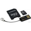 Kingston MBLY4G2/32GB MicroSDHC memóriakártya+USB2.0/SD Adapter - Class 4 - 32GB - fekete