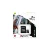 Kingston Memóriakártya, microSDHC, 16GB, CL10/U1/A1, adapter, KINGSTON  Canvas Select Plus