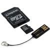 Kingston Memóriakártya MicroSDHC 16GB CLASS 10 + kártyaolvasó