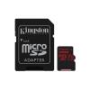 Kingston Memóriakártya MicroSDXC 128GB Canvas React 100R/80W U3 UHS-I V30 A1 + Adapter