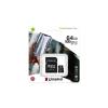 Kingston Memóriakártya, microSDXC,64GB, CL10/U1/A1, adapter, KINGSTON  Canvas Select Plus