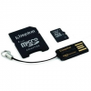 Kingston Micro 8GB SDHC Class 4 + SD adapter és USB olvasó
