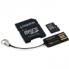 Kingston Micro SDHC 16GB Class 4 + SD adapter és USB olvasó