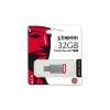"Kingston Pendrive, 32GB, USB 3.1,  ""DT50"", ezüst-piros"