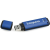 "Kingston Pendrive, 4GB, USB 3.0, 80/12MB/s, titkosítással, KINGSTON ""DTVP 3.0 Management Ready"", kék"