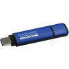 Kingston Pendrive, 8GB, USB 3.0, titkosítás, KINGSTON DTVP30AV, kék (UK8G30AVK)