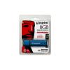 """Kingston Pendrive, 8GB, USB 3.0, vízálló, titkosítás, KINGSTON """"DTVP30DM"""", kék"""