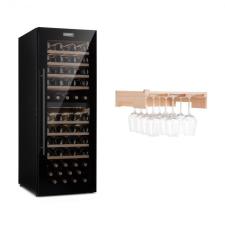 Klarstein Barossa 77 Duo, borhűtő készlet, 2 zóna, 191 l/77 palack, polc borospoharakra borhűtőgép