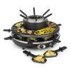 Klarstein Fonduelette, raklette grillsütő és fondue, 1350 W, 1 liter, Ø 38 cm, 8 személyes