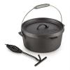 Klarstein Hotrod 45 öntöttvas fazék, barbecue fazék, 4,5 qt /4 liter, öntöttvas, fekete