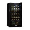 Klarstein Shiraz 28 Uno, borhűtő, 74 l, 28 palack, érintőképernyős, 5 - 18 °C, fekete