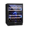 Klarstein Vinovilla Onyx 43, kétzónás borhűtő, 129 l, 43 palack, 3 szín
