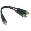 Klotz AYU8 adapterkábel Y RCA-RCA 0.2m