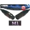 Klotz mikrofonkábel, 5 m Klotz/(Neutrik XLR3M - XLR3F csatlakozók, + MY206 fekete kábel