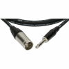Klotz XLR-JACK kábel, 0,3 m – Klotz XLR3M - JACK3 csatlakozók + MY 206 fekete kábel