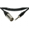 Klotz XLR-JACK kábel, 2 m – Klotz XLR3M - JACK2 csatlakozók + MY 206 fekete kábel