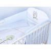 Klups 3 részes ágynemű fehér-kék baglyos
