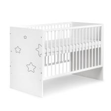 Klups Tino Stars kiságy 60x120 - fehér (bialy) kiságy, babaágy