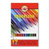 """KOH-I-NOOR Színes ceruza készlet, famentes, KOH-I-NOOR """"Progresso 8756/12"""", 12 különböző szín (TKOH8756)"""