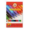 """KOH-I-NOOR Színes ceruza készlet, henger alakú, famentes,  """"Progresso 8758/24"""", 24 különböző szín"""