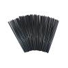 . Koktél szívószál, fekete, 500db-os szett, 25cm