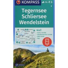 Kompass 08. Tegernseer turista térkép Kompass 1:25 000 térkép
