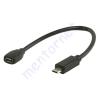 Kőnig-HQ USB A - micro USB B összekötő kábel, OTG! MHL VLMP60900B0.20
