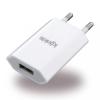 Konkis USB töltőfej 1A, univerzális, fehér