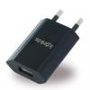 Konkis USB töltőfej 1A, univerzális, fekete